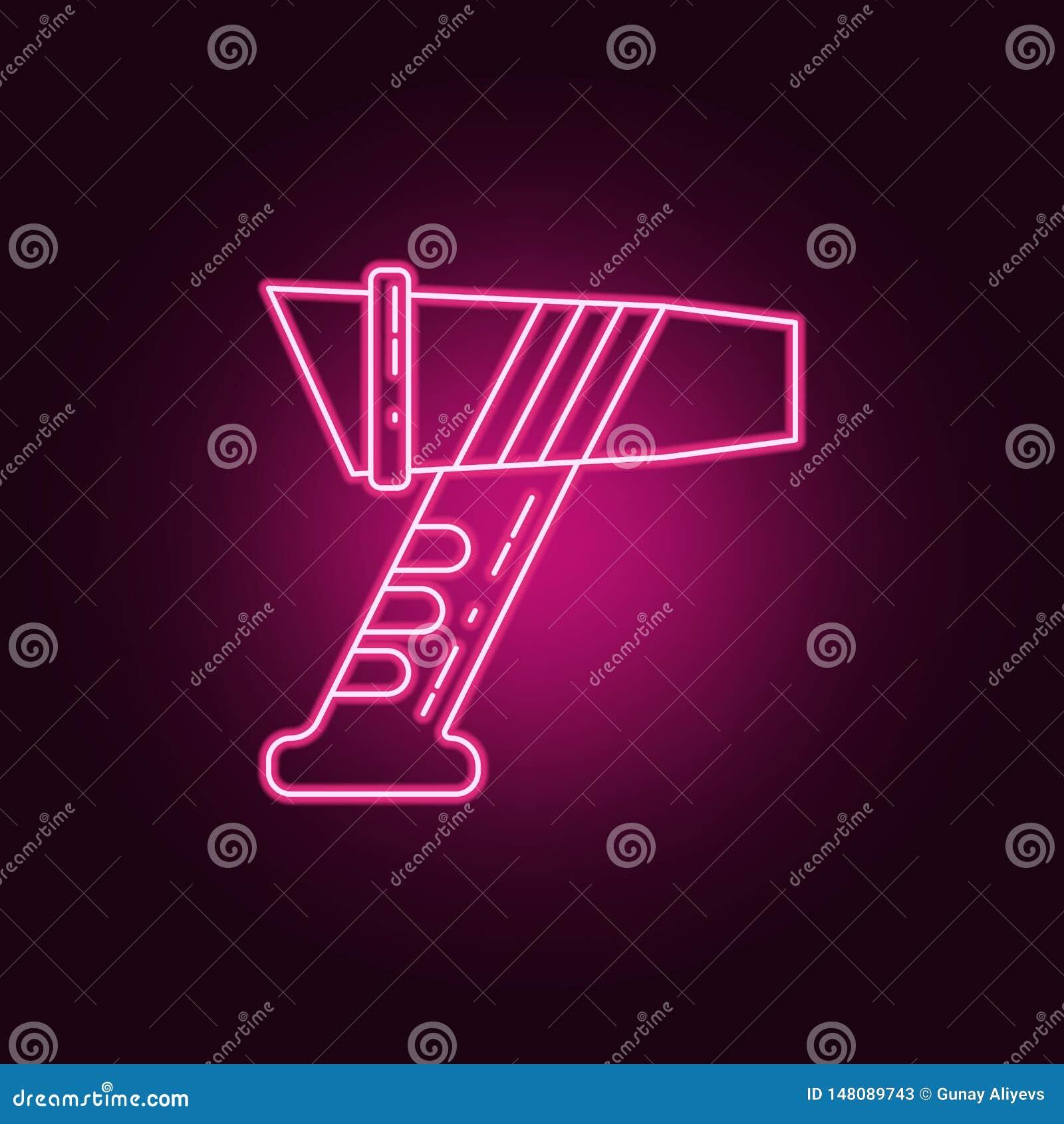 laser measuring instrument neon icon. Elements of Measure set. Simple icon for websites, web design, mobile app, info graphics