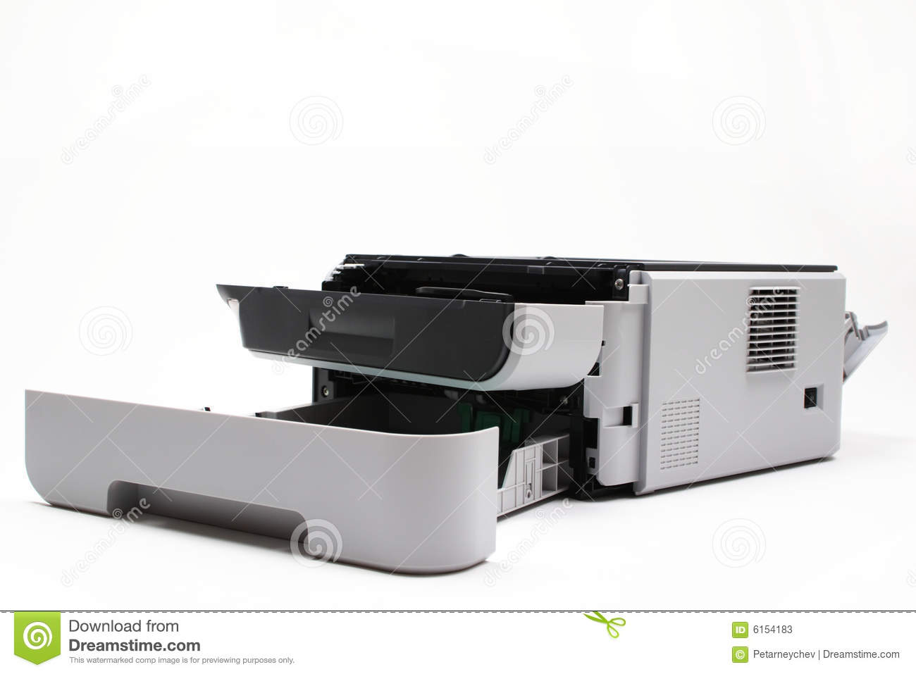 Laser Printer In Need Of Servicing Stock Image - Image of