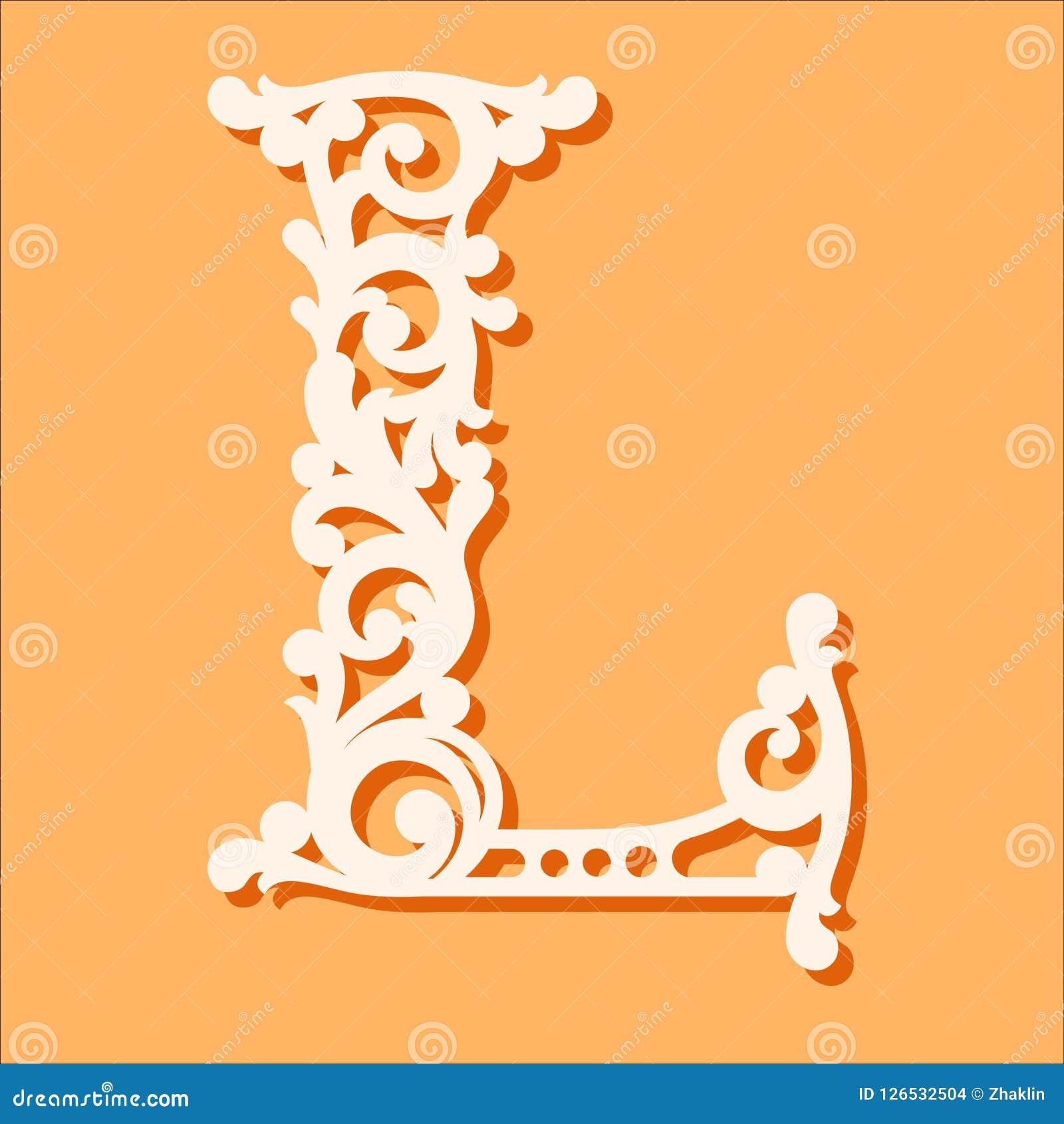 Laser-Schneideschablone Anfangsmonogrammbuchstaben Fantastischer Blumenalphabetbuchstabe