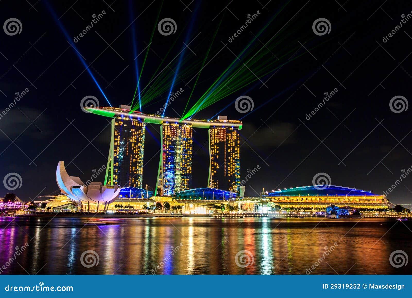 Laser Show Marina Bay Sands Singapore