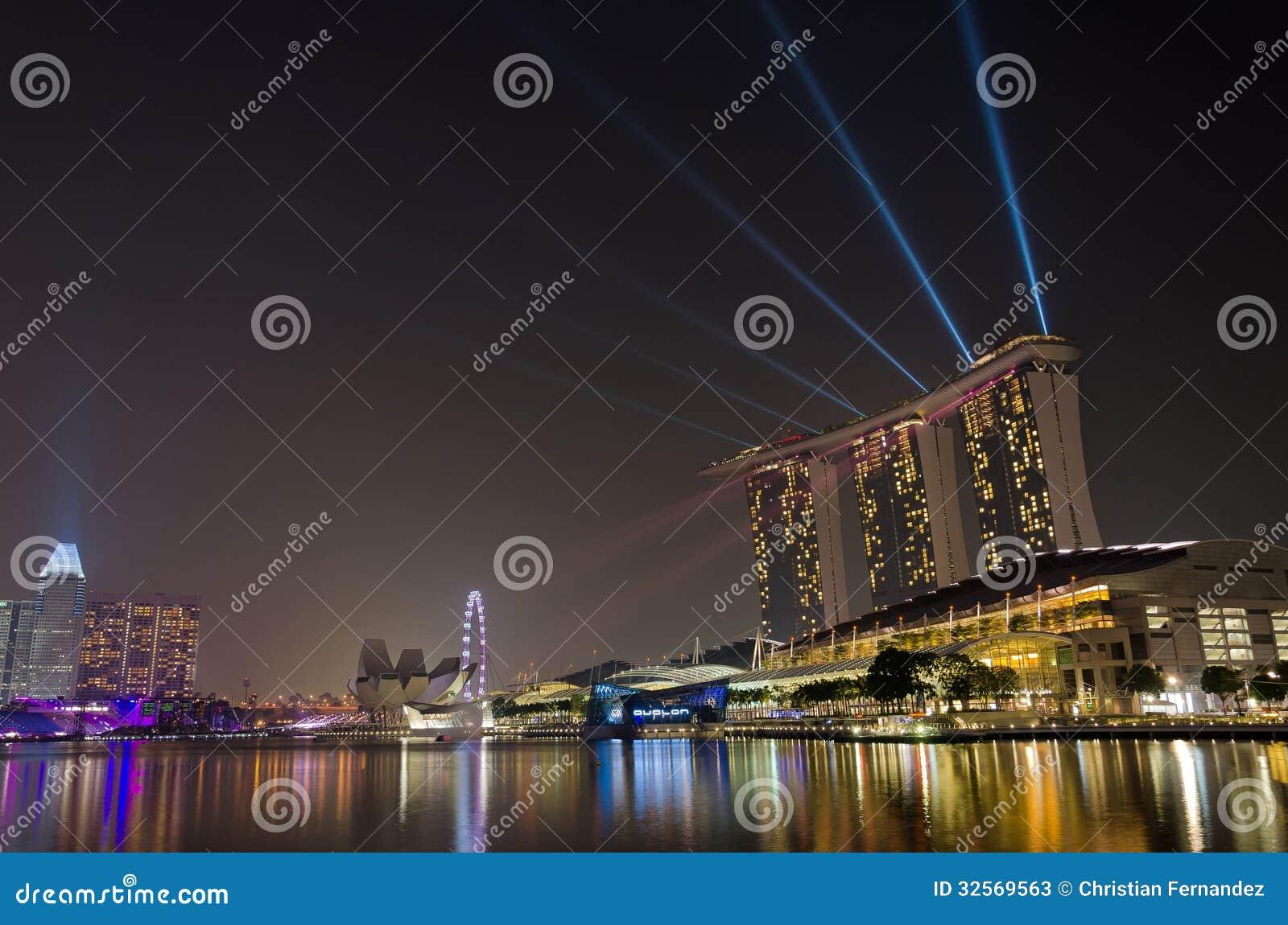 laser show at marina bay sands editorial stock photo image of