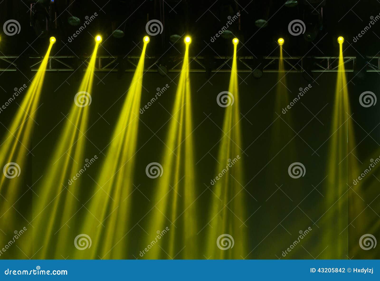 Download Laser-strålar Riktar Uppmärksamheten På Etappen Stock Illustrationer - Illustration av konsert, underhållning: 43205842