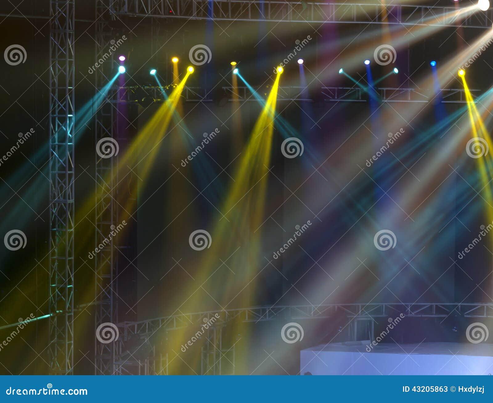 Download Laser-strålar Riktar Uppmärksamheten På Etappen Stock Illustrationer - Illustration av projektion, effekter: 43205863
