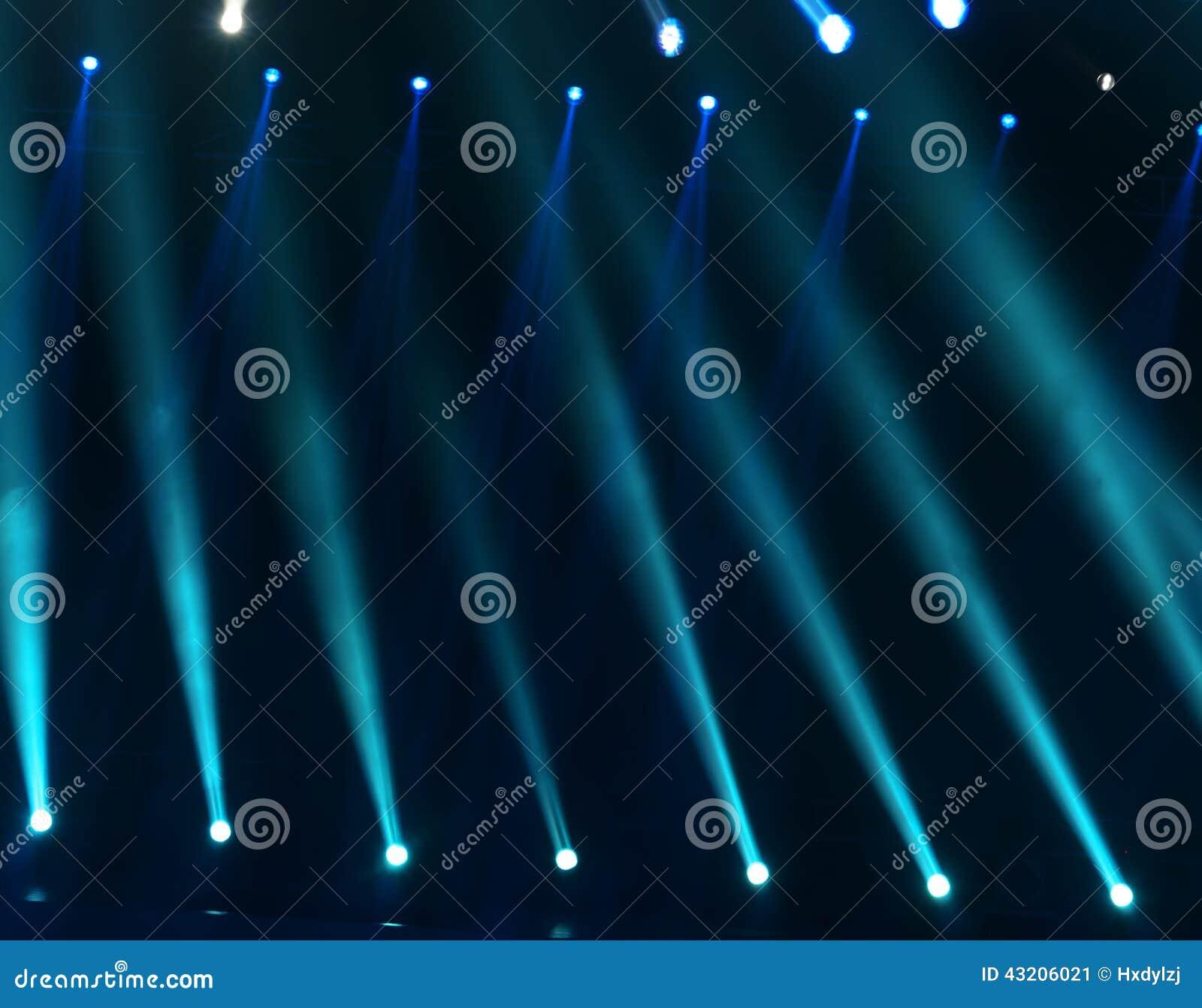 Download Laser-strålar Riktar Uppmärksamheten På Etappen Stock Illustrationer - Illustration av underhållning, exponering: 43206021