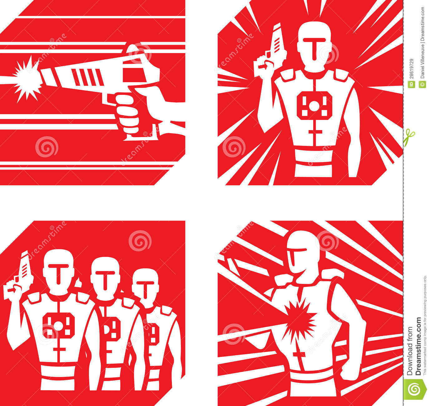 Laser Tag Icons Royalty Free Stock Images - Image: 28619729