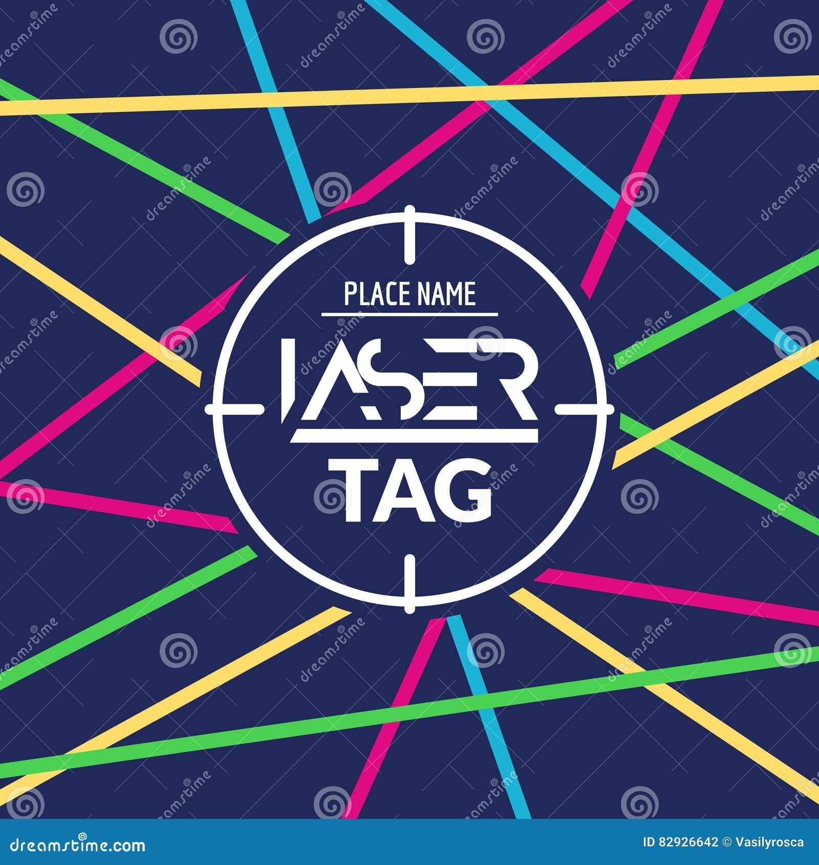 Laser Tag Party Invitation stock vector. Illustration of kids - 23190996