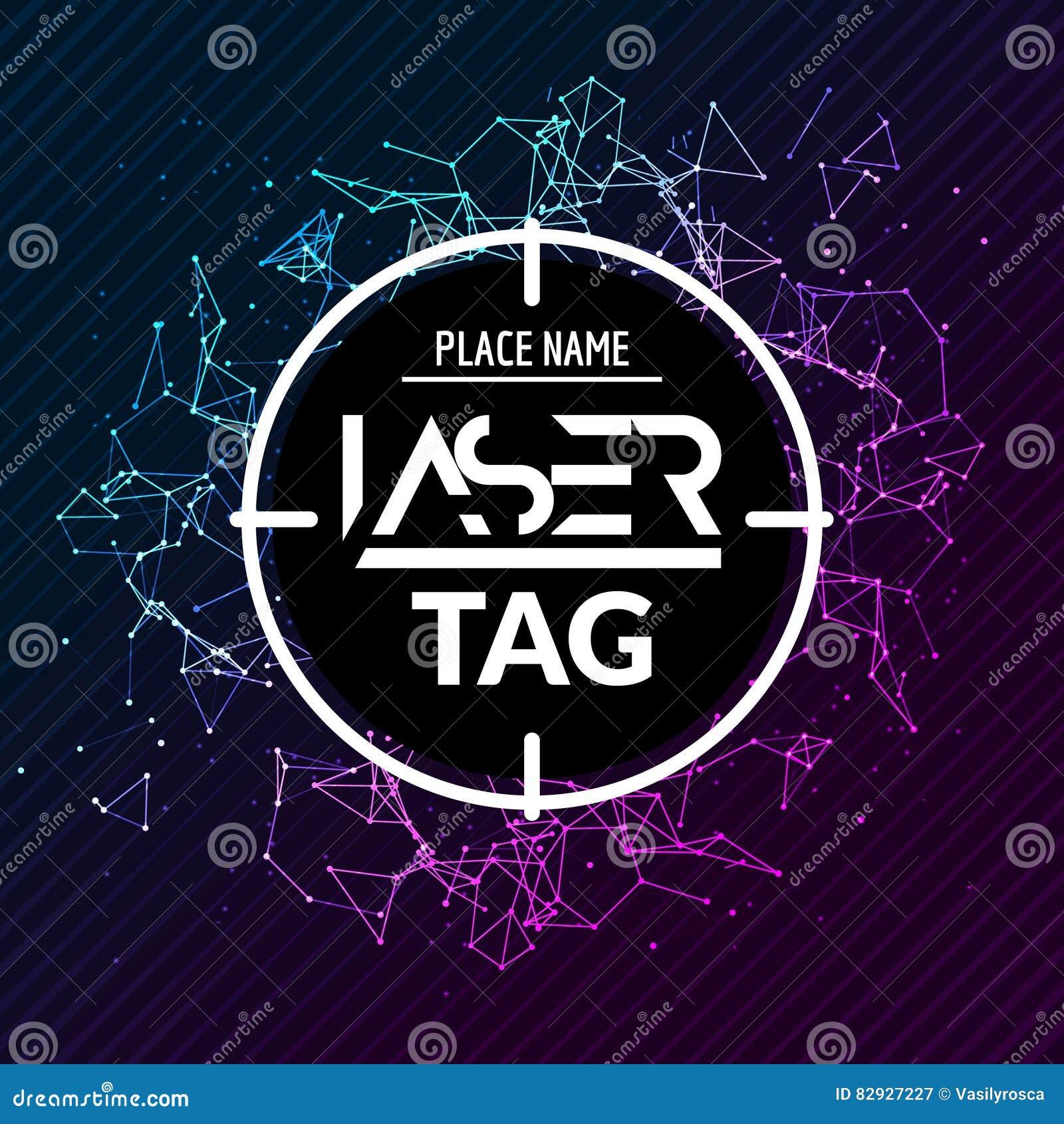Laser Tag Target Game Poster Flyer Vector Lasertag Banner