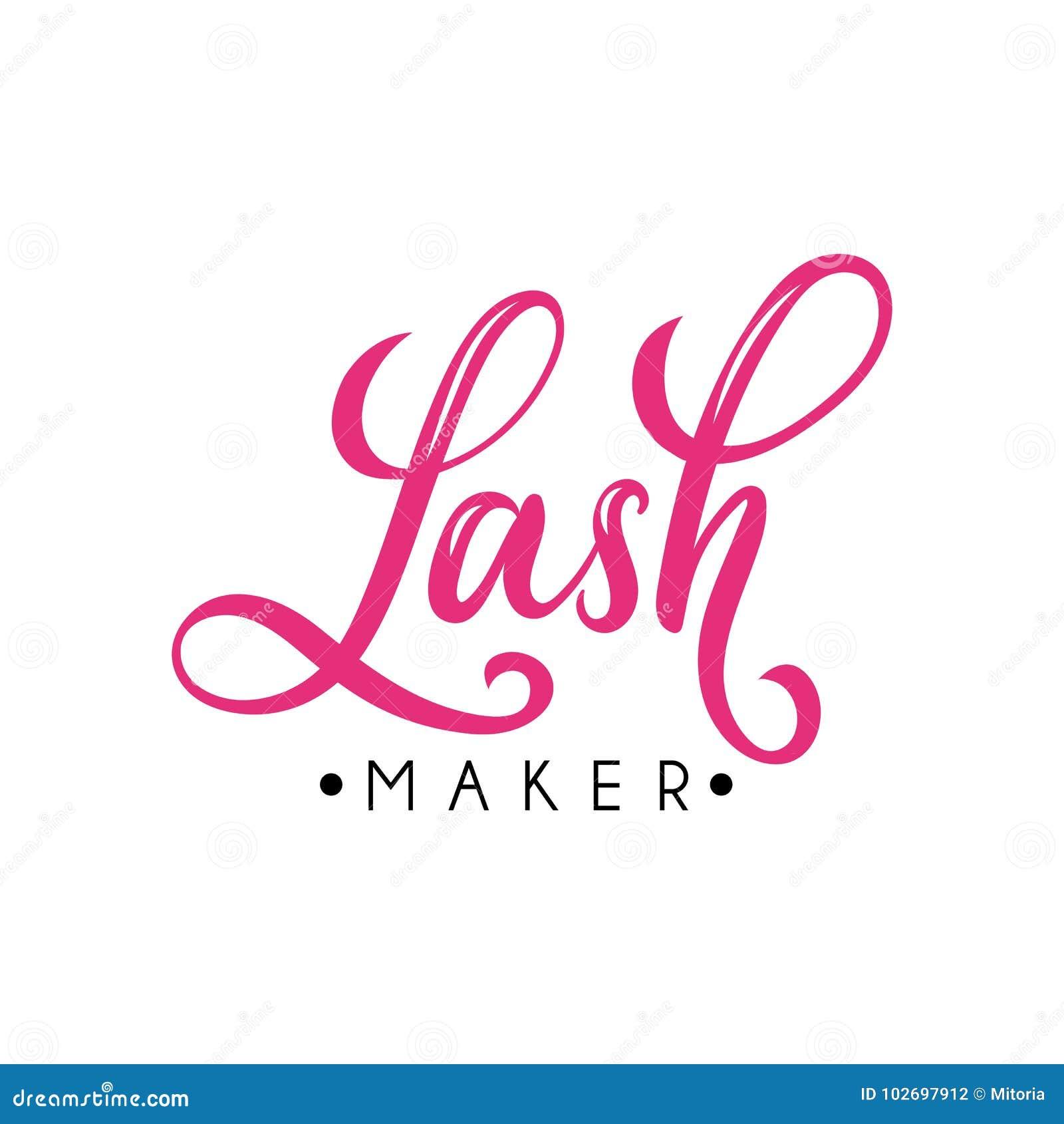 f66eba26e7f Lashes Lettering Logo Desig For Lash Bar. Stock Vector ...