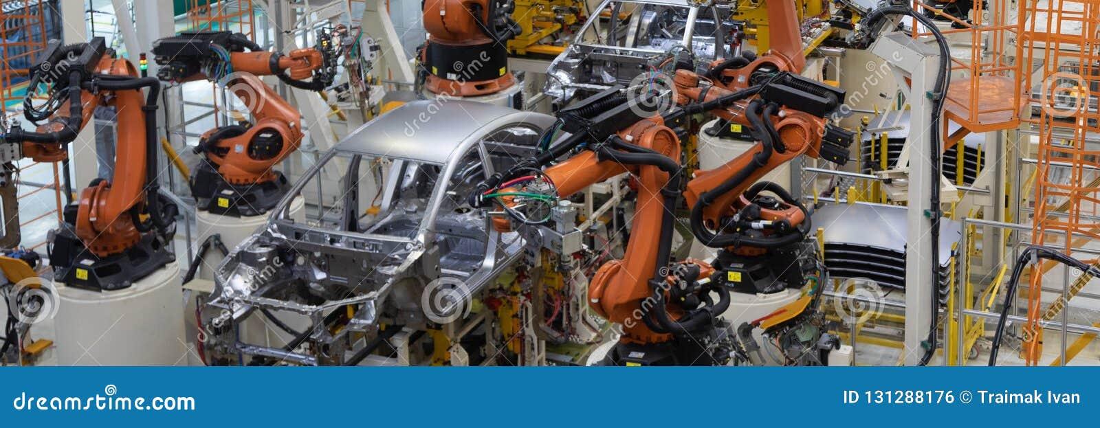 Lassen van autolichaam Automobielproductielijn Lang formaat Breed kader