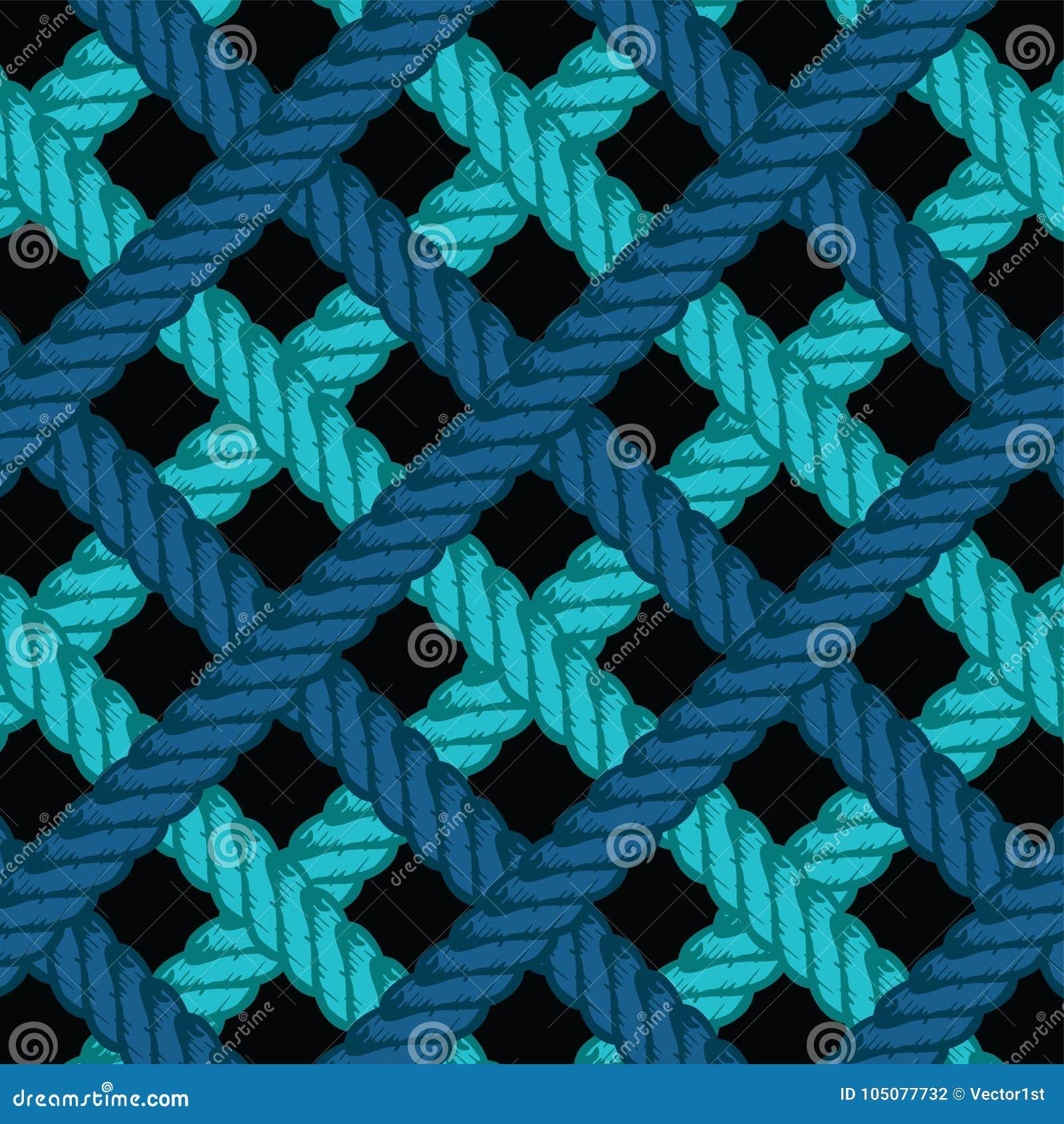 Lasso Rope Pattern Background Wallpaper Stock Vector Illustration Of Lasso Crochet 105077732