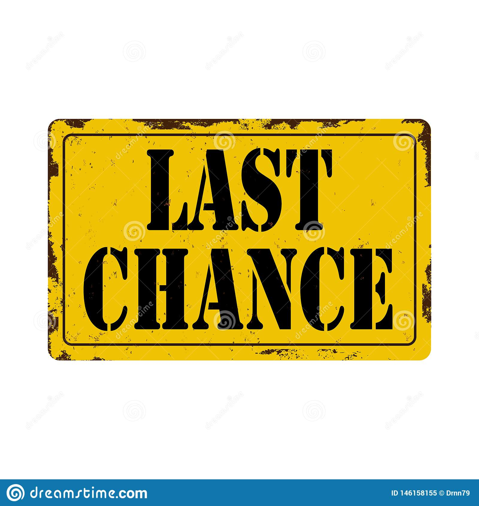 Last chance Antiques vintage rusty metal sign on a white background