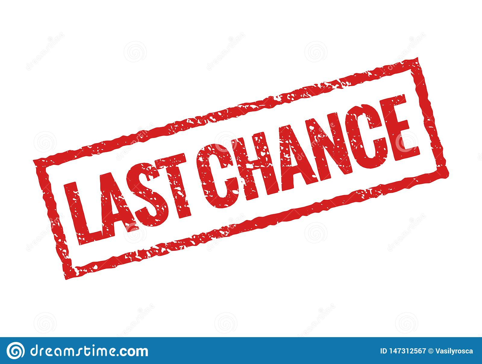 Last chance grunge stamp red icon. Banner sign final chance rubber seal