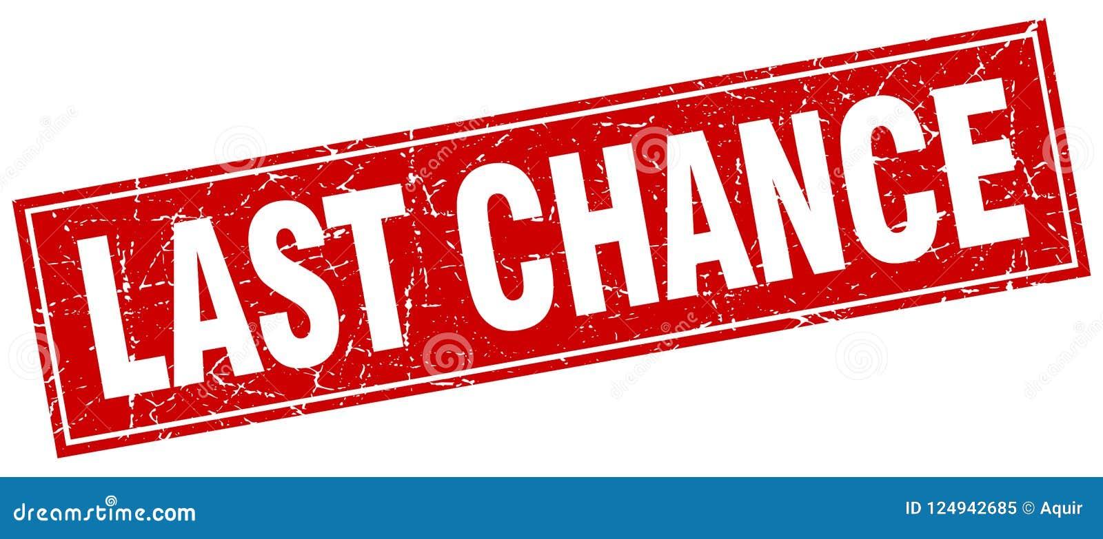 last chance stamp