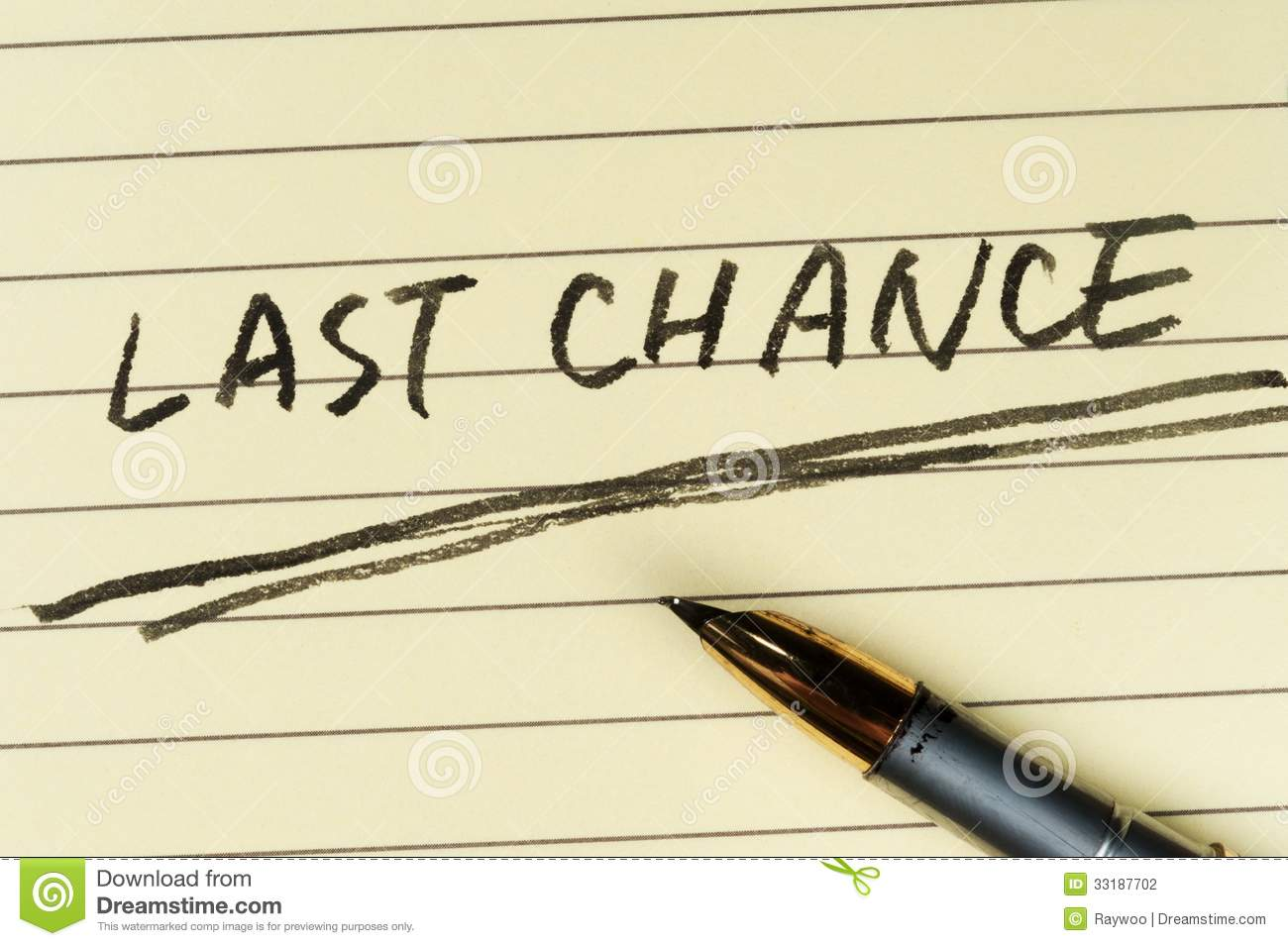 last chance words stock photography image 33187702