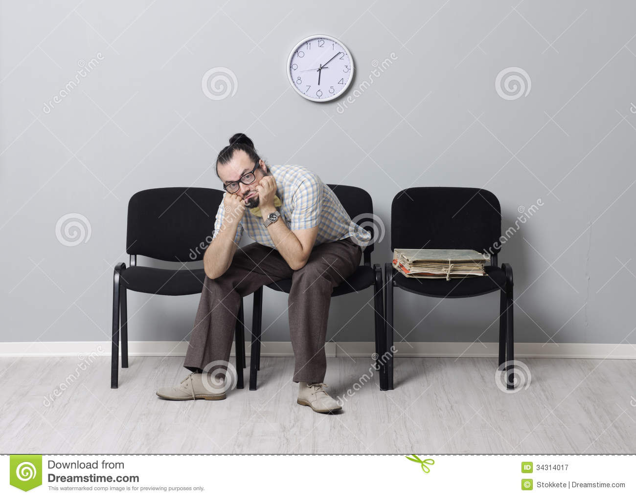 last job seeker waiting interview royalty free stock