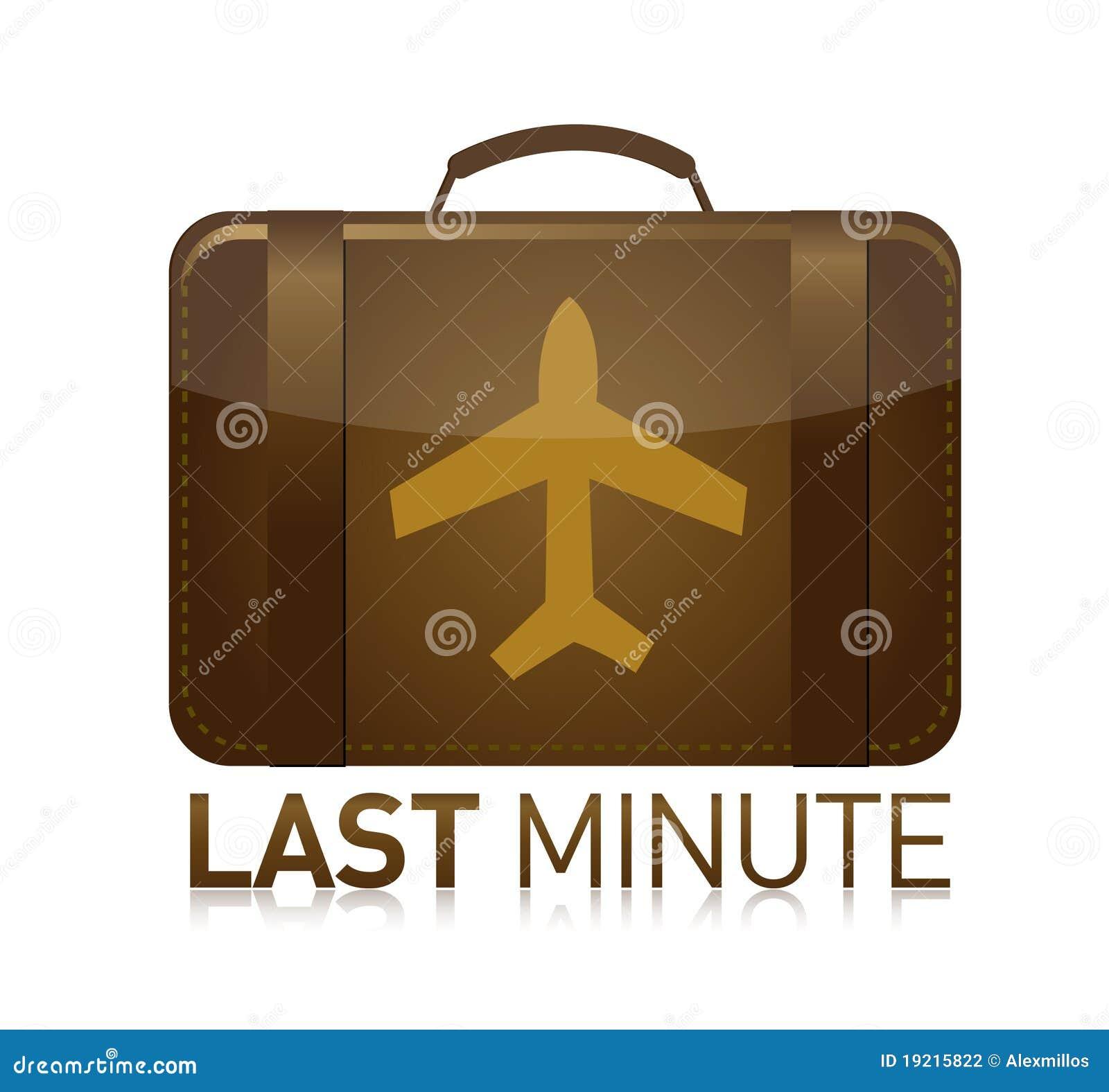 Last minute luggage airplane