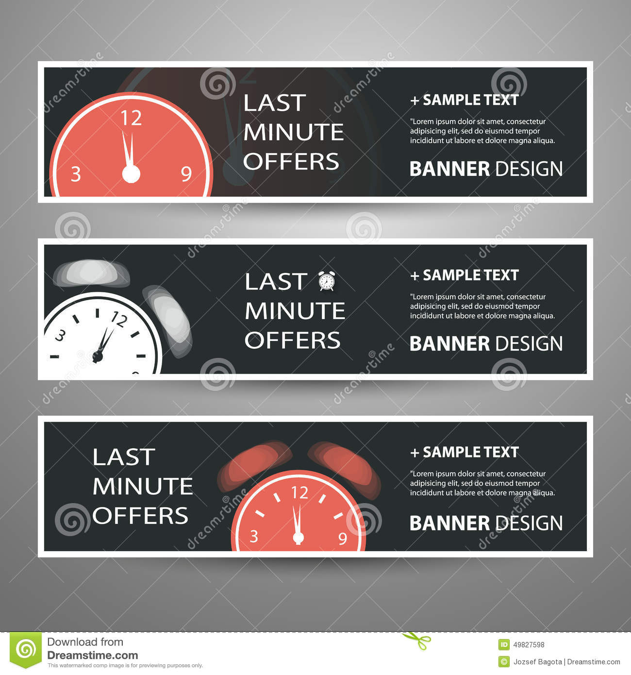 Last Minute Offer Banners for Your Advertisement