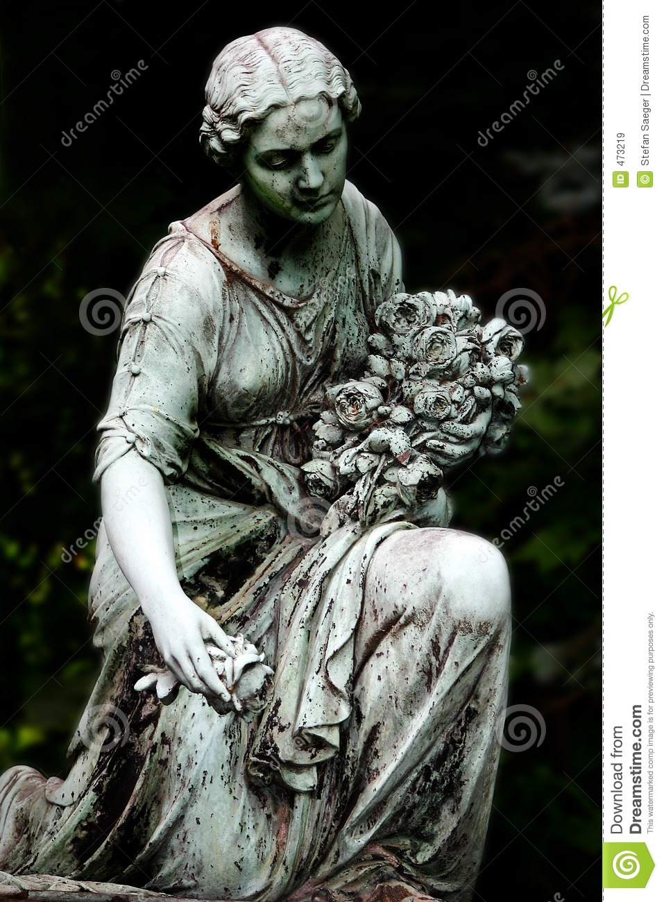 Download The Last Roses stock image. Image of supplication, statue - 473219
