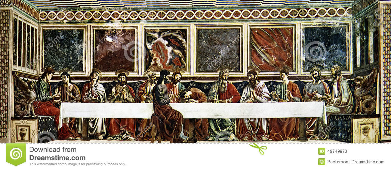 The Last Supper Of Christ Stock Illustration - Image: 49749870