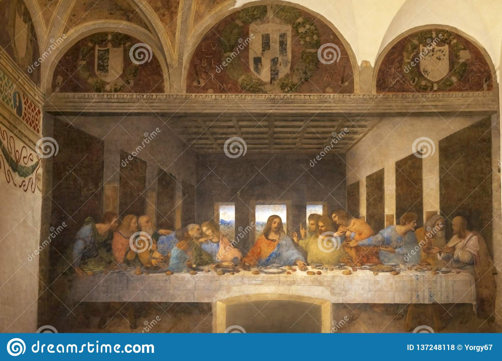 The Last Supper in Milan editorial stock photo. Image of ...