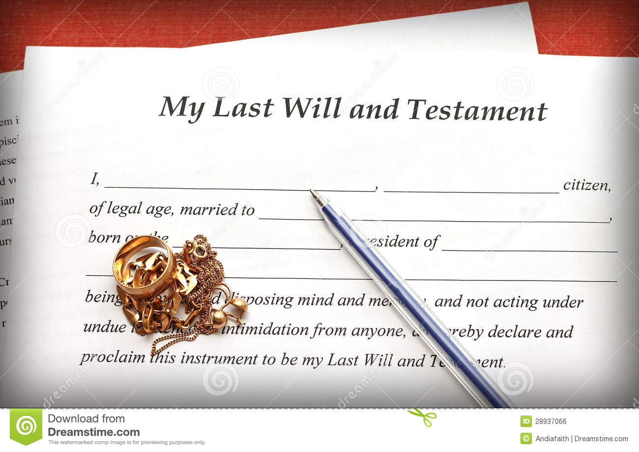 """my last will and testament Florida last will and testament guidelines for florida residents and  is not in my  estate at death, the gift would be extinguished or """"adeemed."""