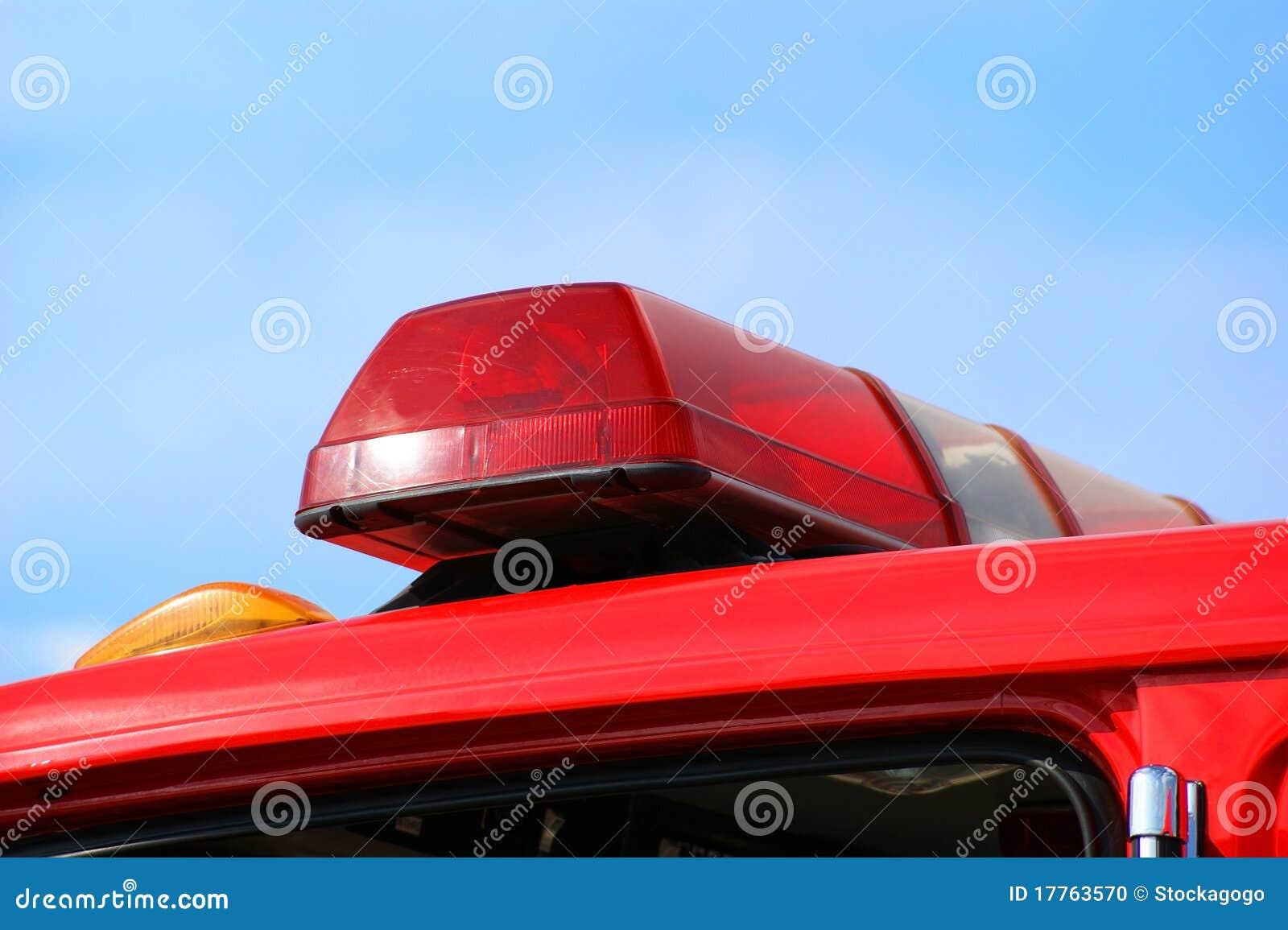 Lastbil för ambulansbrandlampor