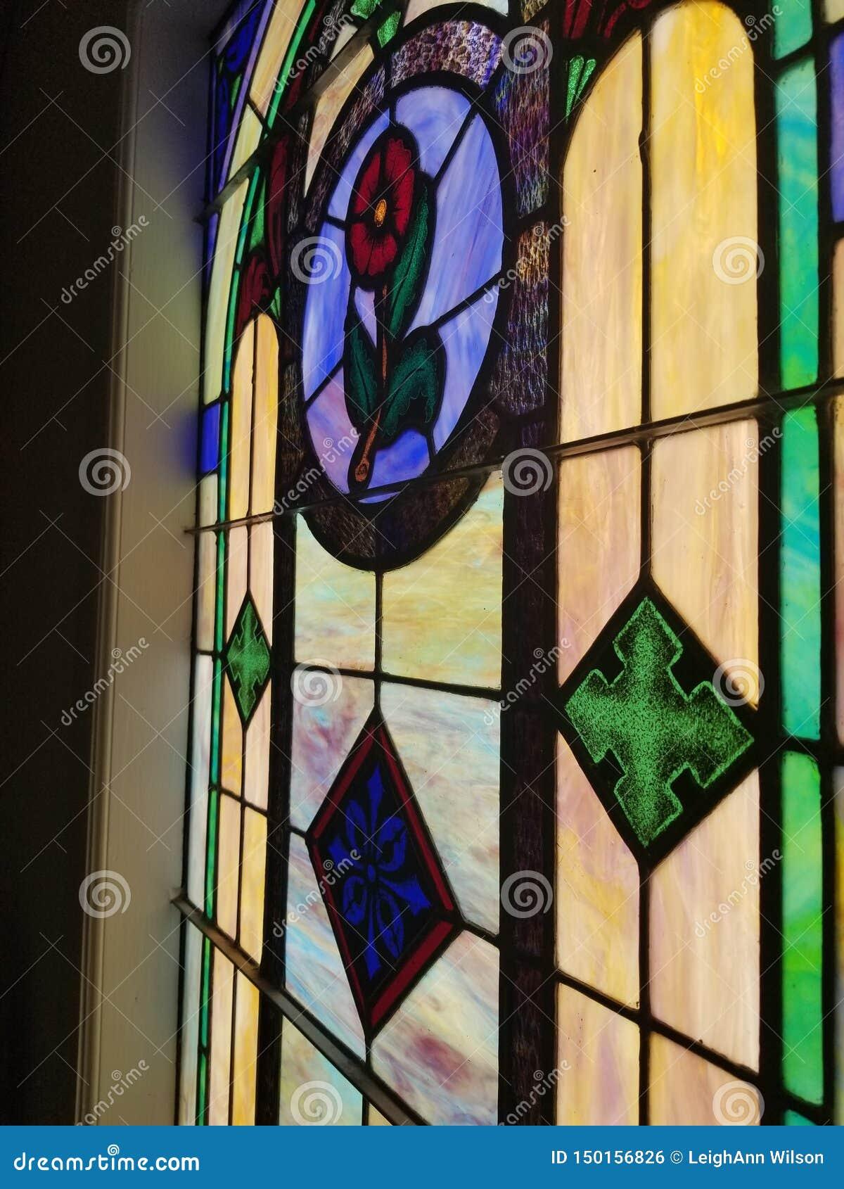 Lastra di vetro di vetro variopinta della finestra della chiesa