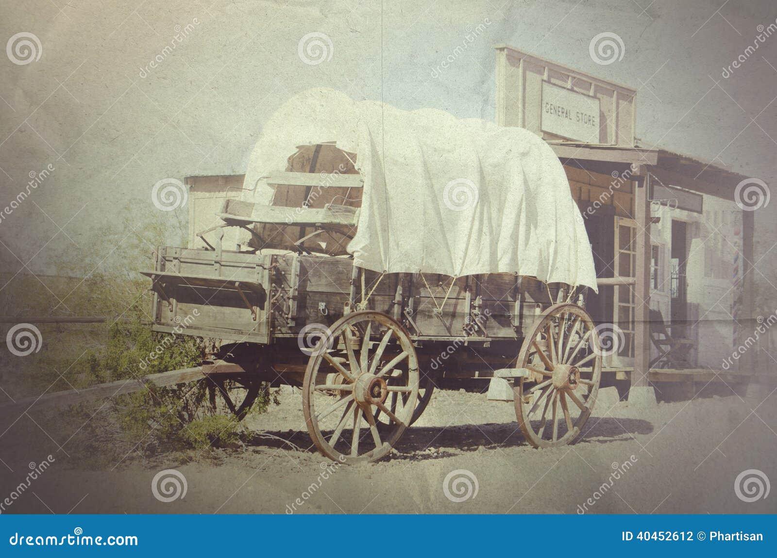 Lastwagen- und Cowboystadtgemischtwarenladen