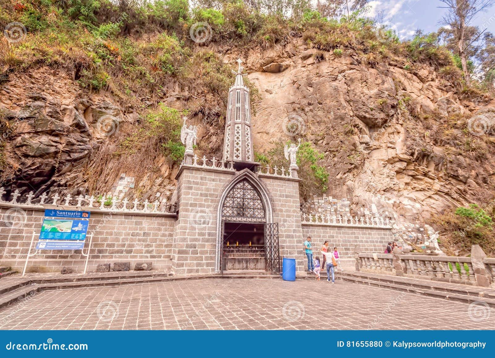 Lasu Lajas sanktuarium, neogotyki szarość kamień, Kolumbia