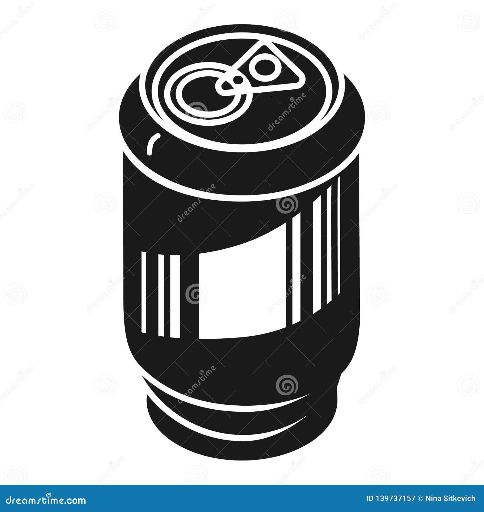 Lata de alumínio para o ícone das bebidas, estilo simples