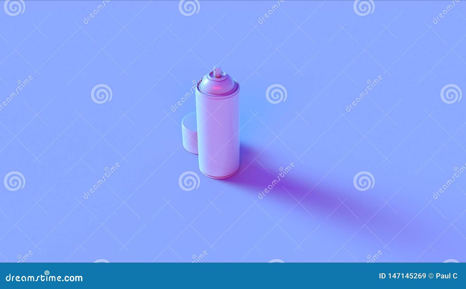 Lata de pulverizador cor-de-rosa azul