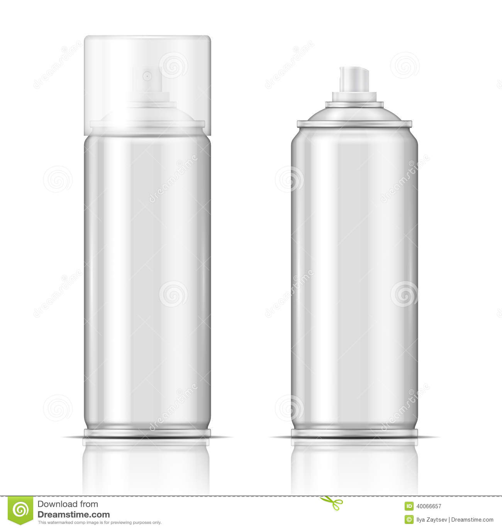 Lata de pulverizador de alumínio.