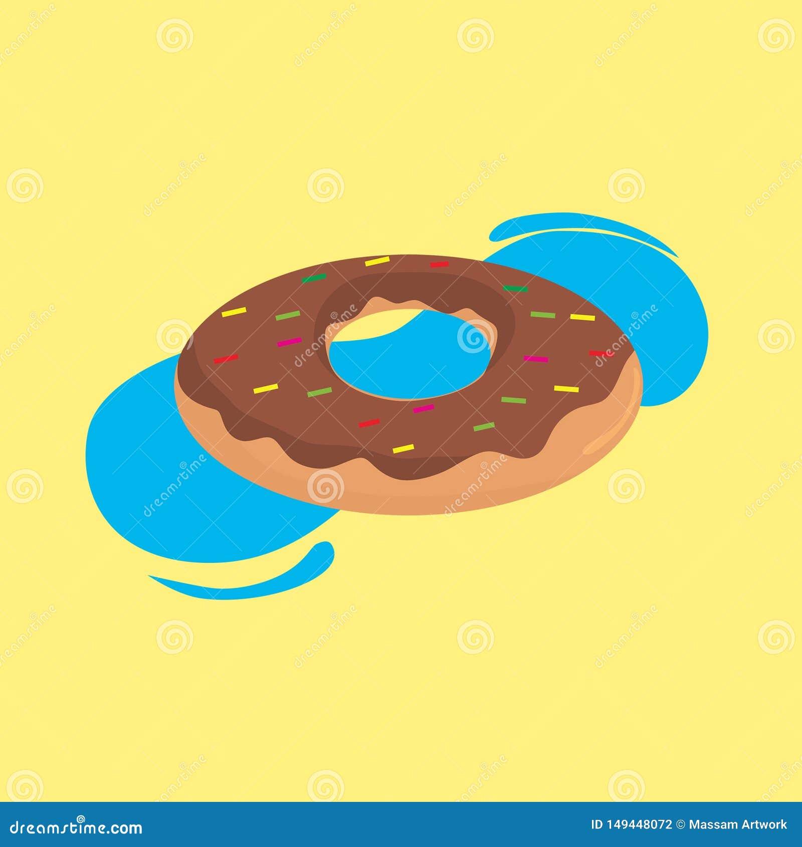 Lata jedzenia wzoru donuts