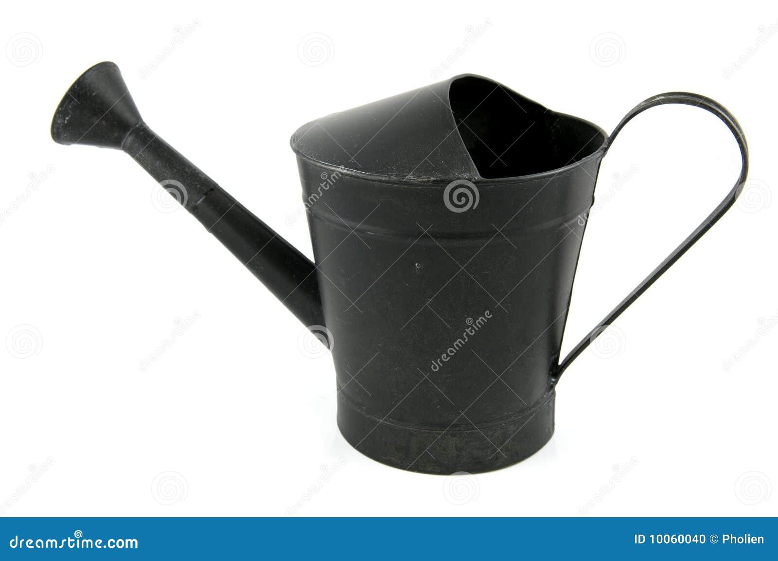 Lata molhando do ferro preto