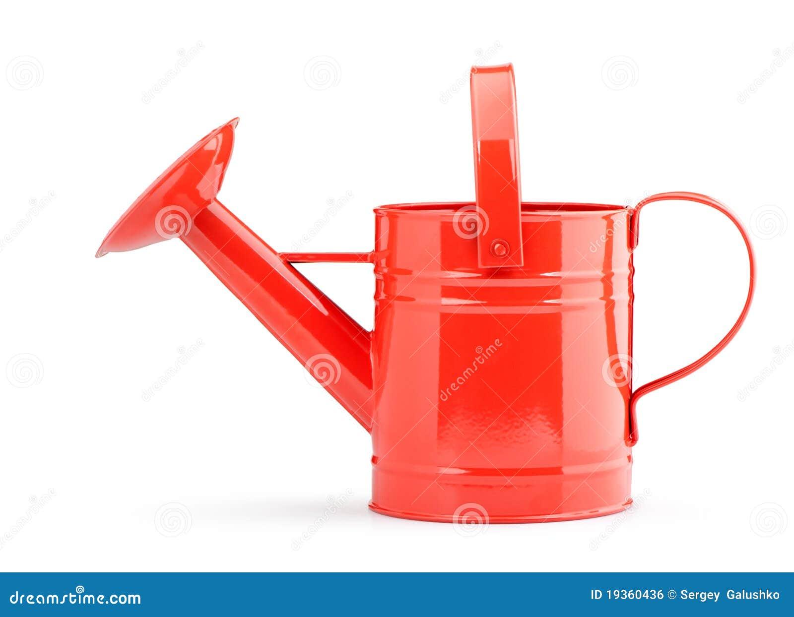 Lata molhando vermelha