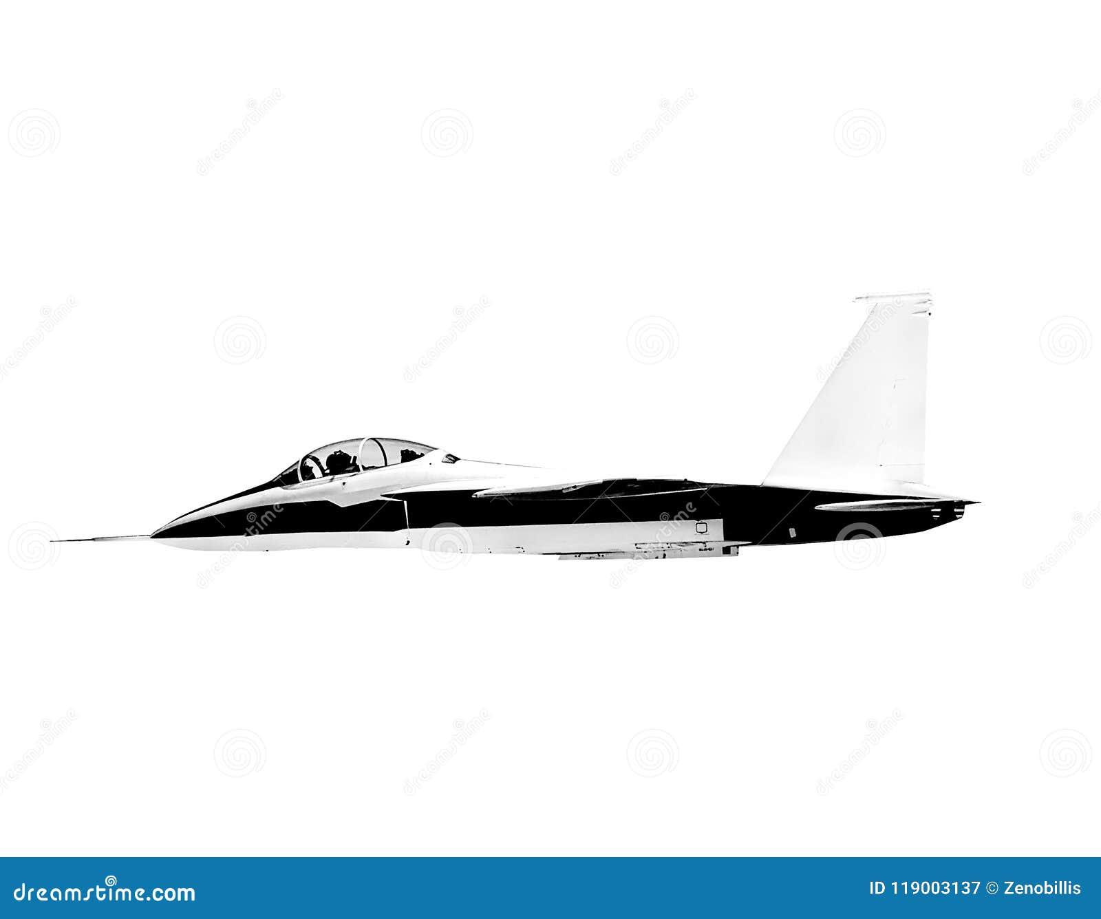 Latający naddźwiękowy dżetowy samolot odizolowywający na białym tle