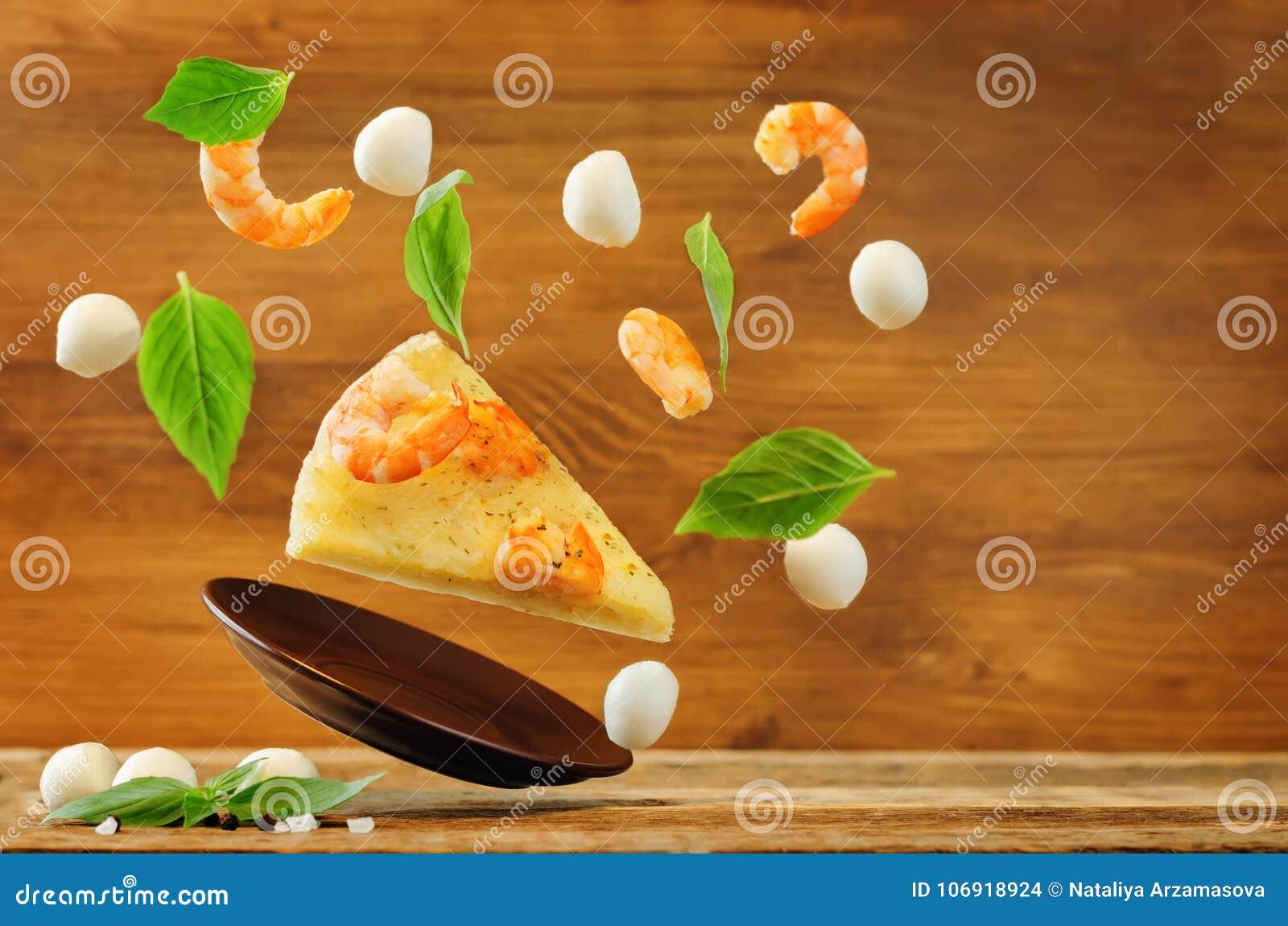 Latającego Krewetkowego czosnku tandetna pizza