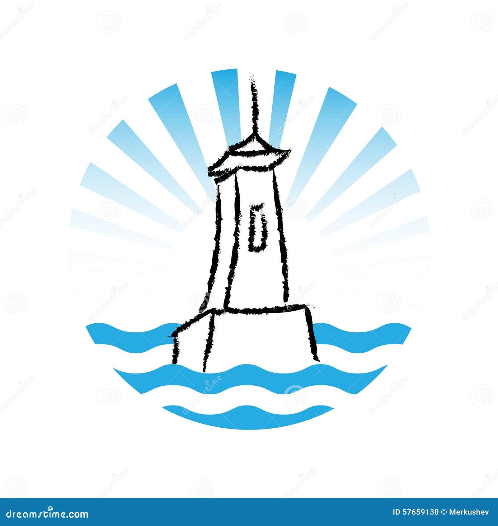 Latarnia morska logo, wektor