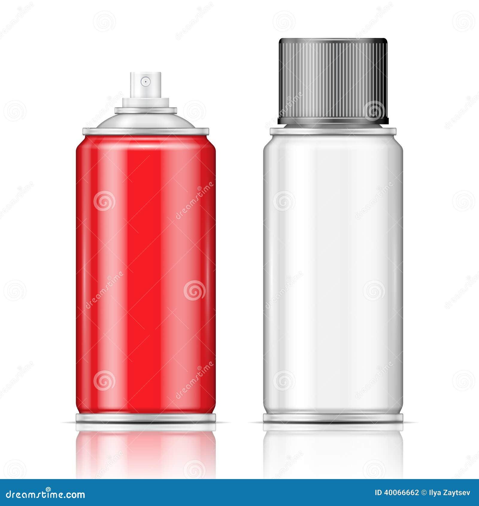 Latas de espray de aluminio ilustraci n del vector - Pintura para aluminio en spray ...