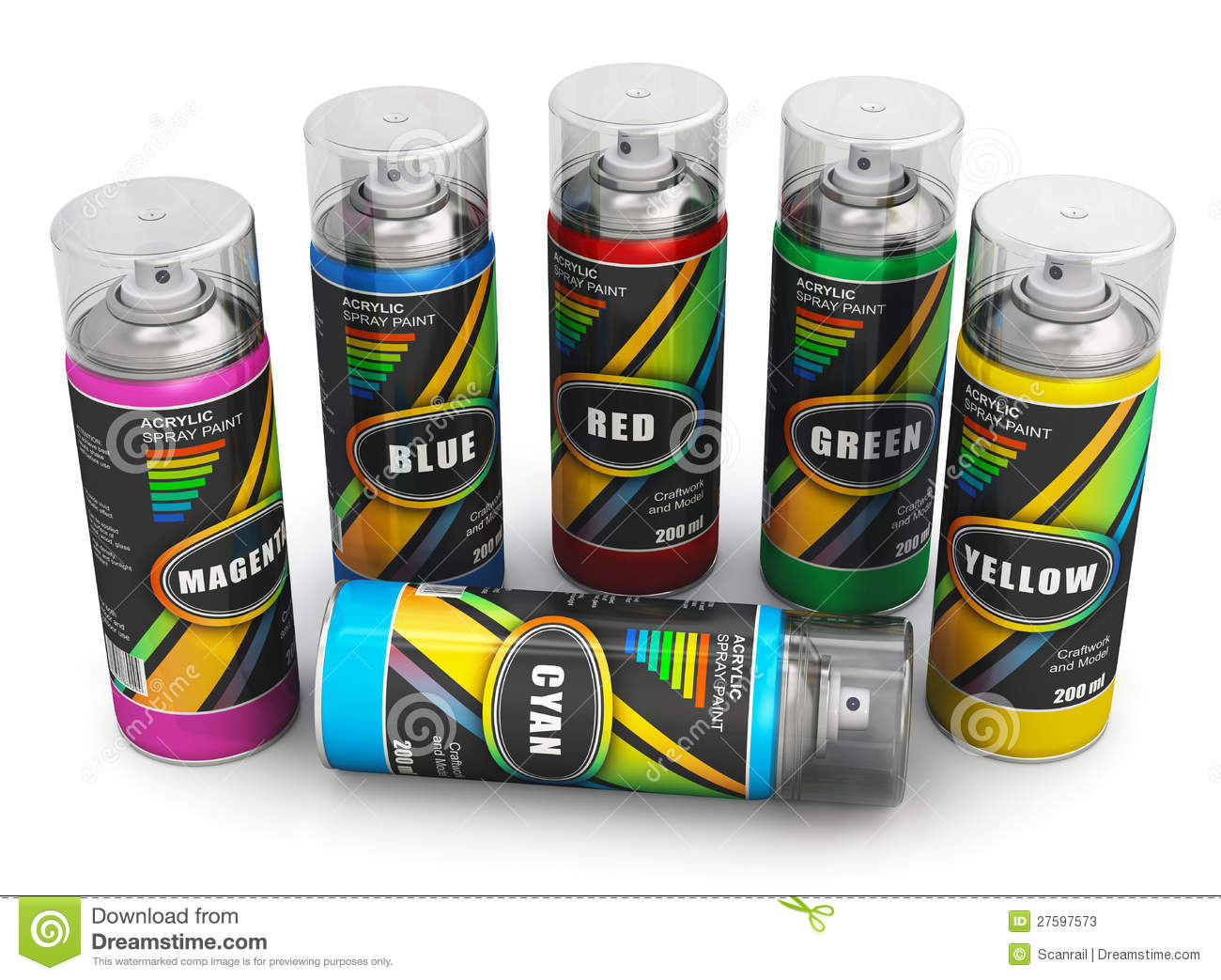 Spray Cans Of Acrylic Paint