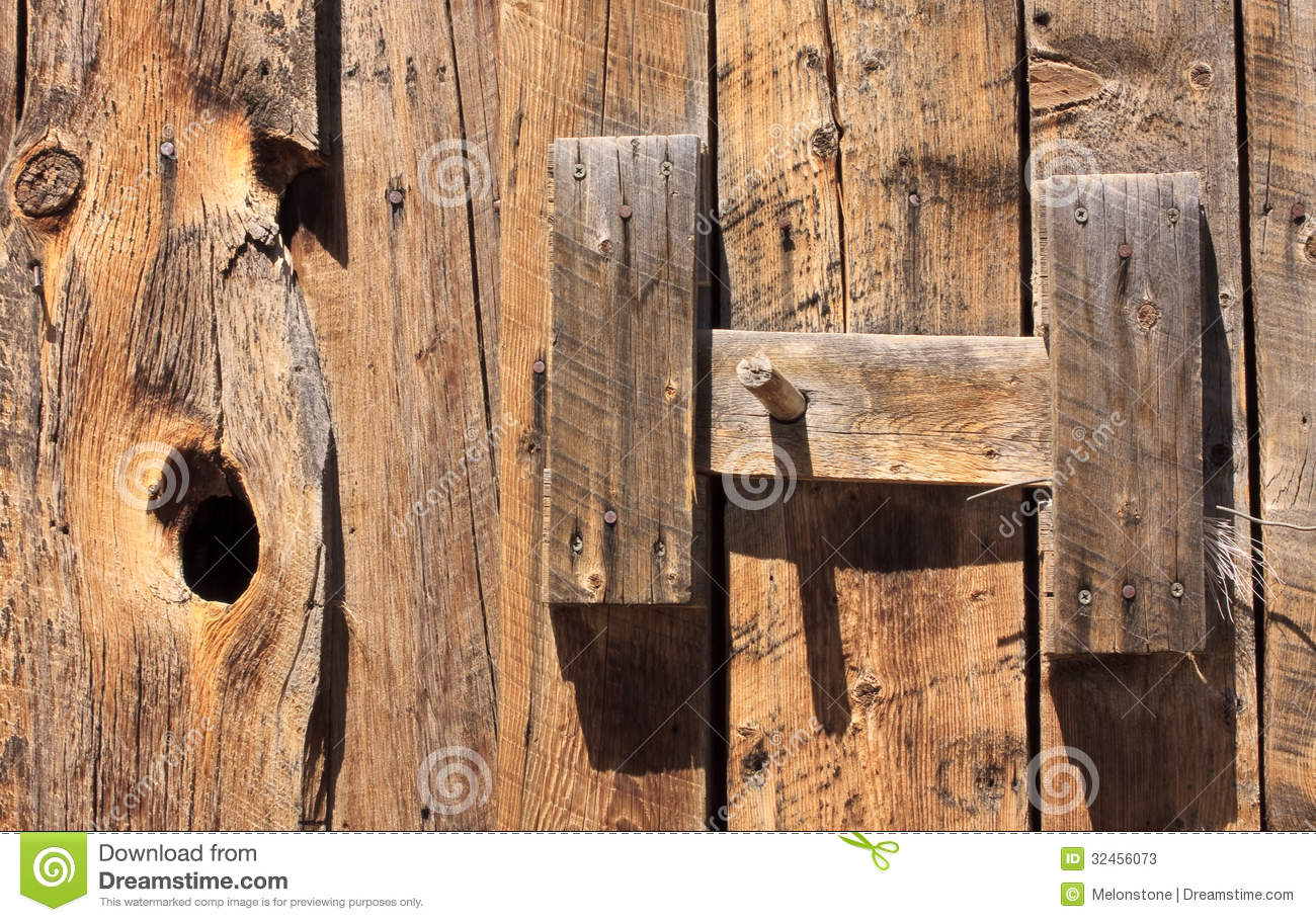 Latch On Old Barn Door Stock Image Image Of America