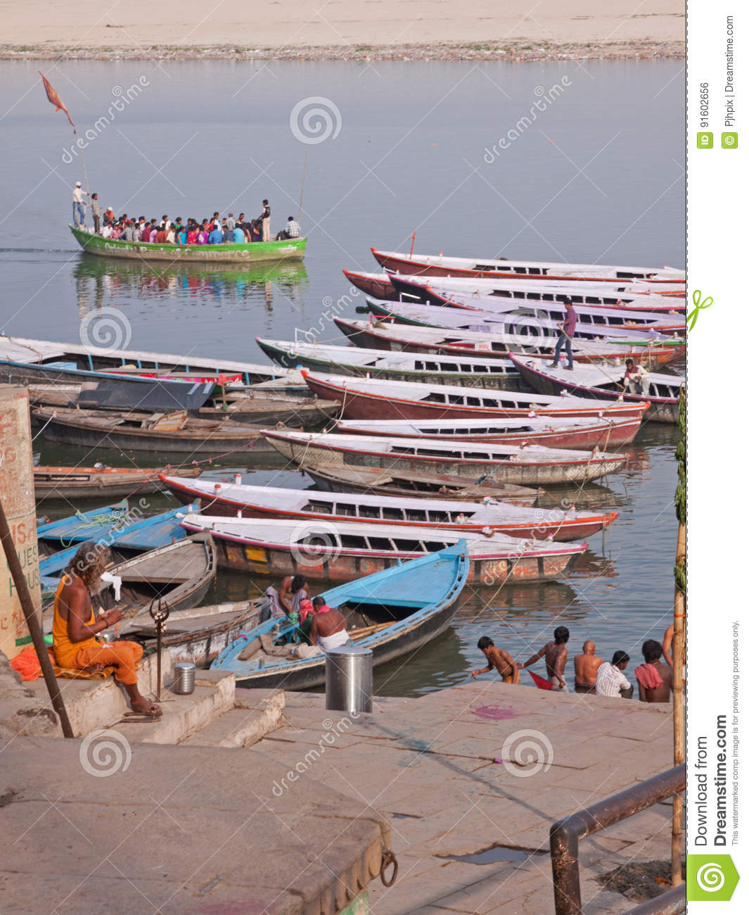 Late afternoon on the Ganges at Varanasi, India