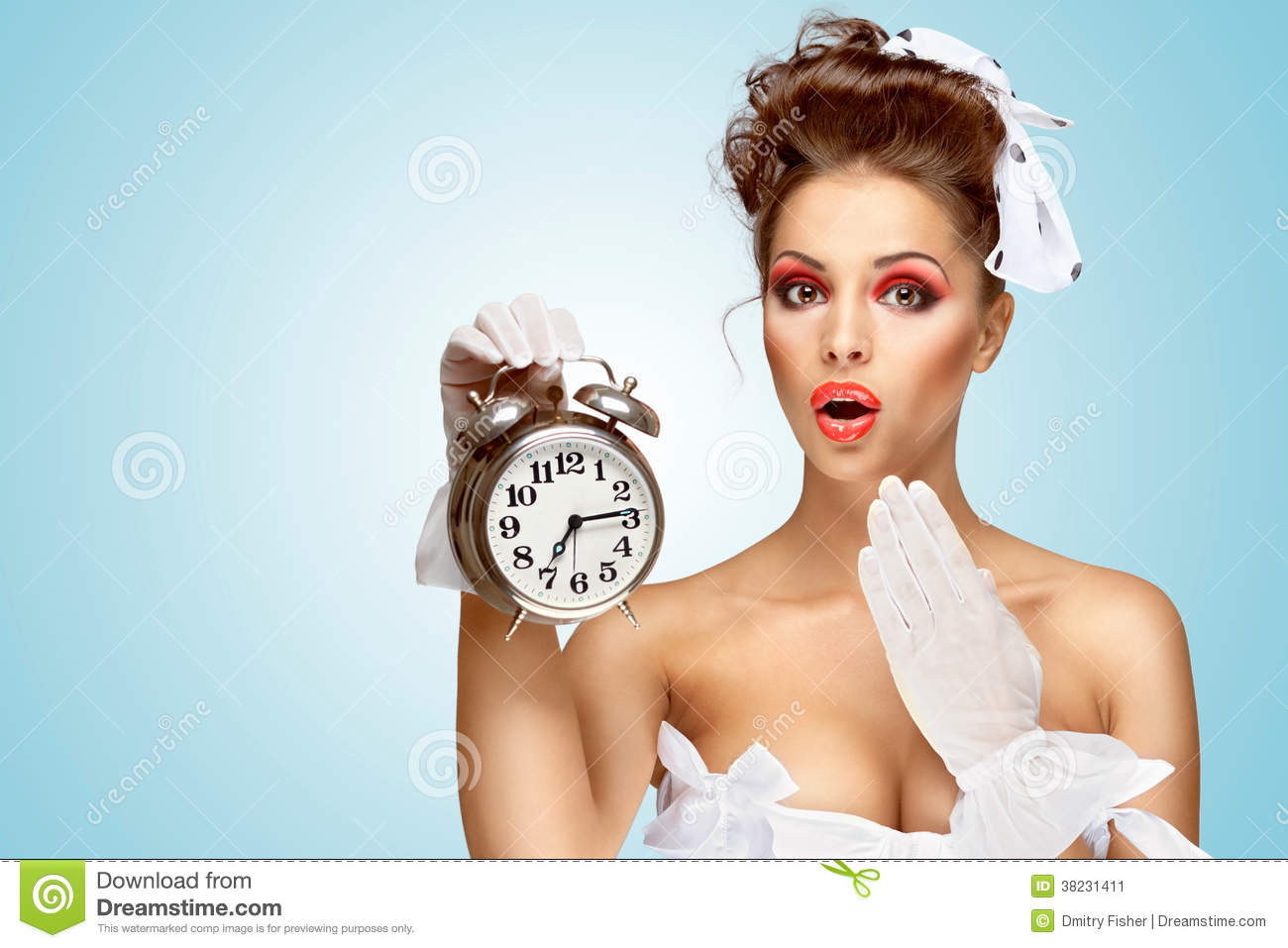 She is always late stock image image 38231411 for Vintage pin up wedding dresses
