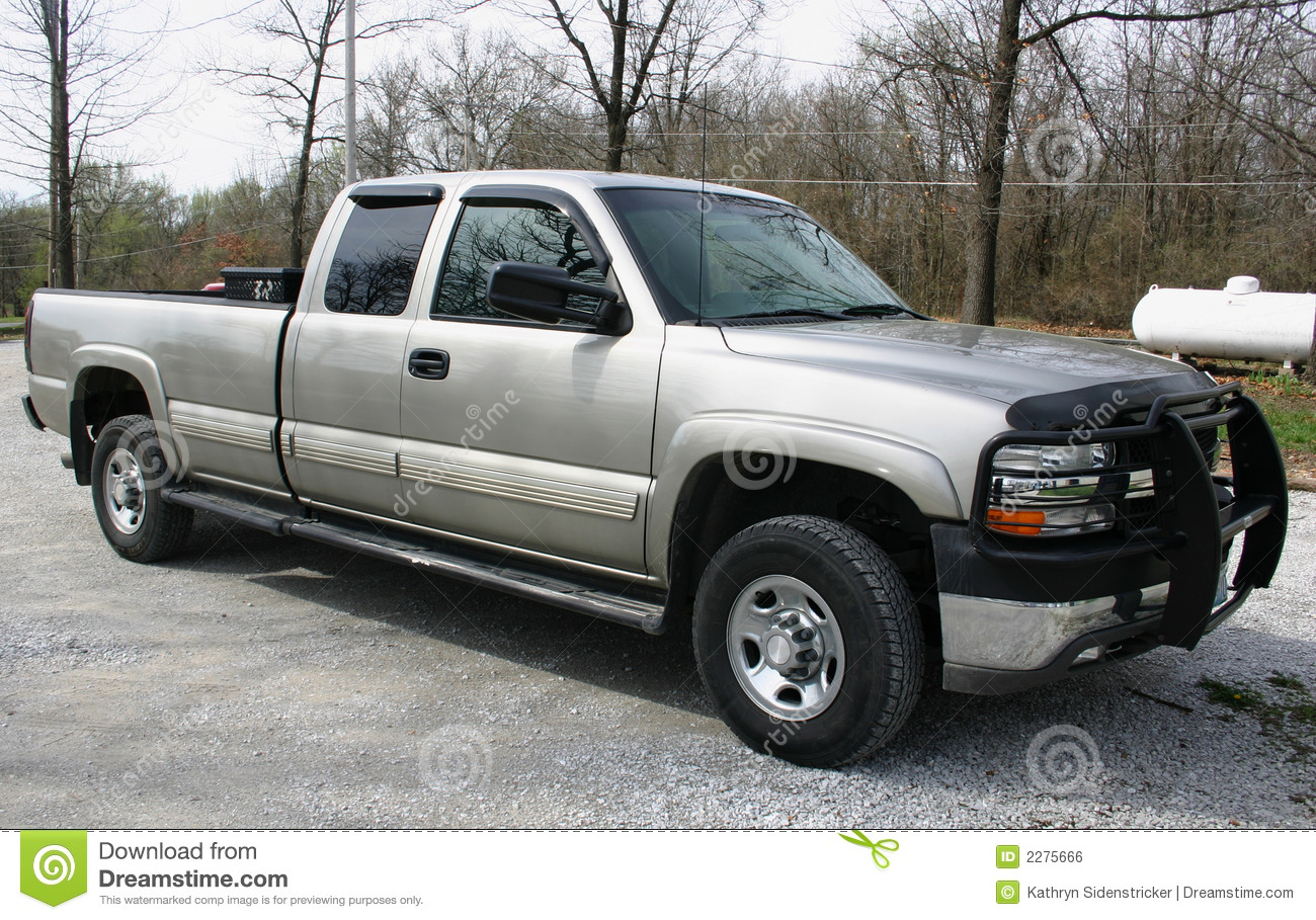 Late Model Chevy Pickup Truck Stock Photo - Image of tinted, drive ...