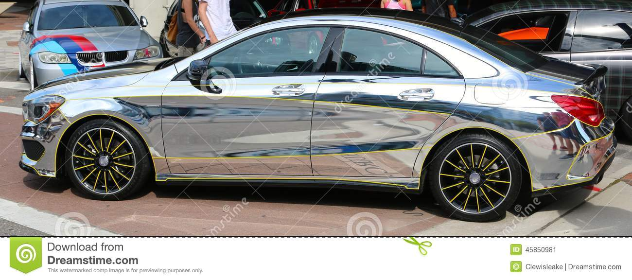 Late model chrome mercedes benz editorial photo image for Mercedes benz of orlando used cars