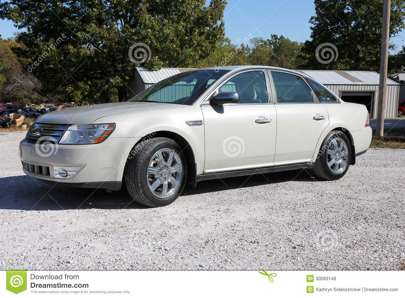 2008 ford taurus four door sedan royalty free stock images. Black Bedroom Furniture Sets. Home Design Ideas