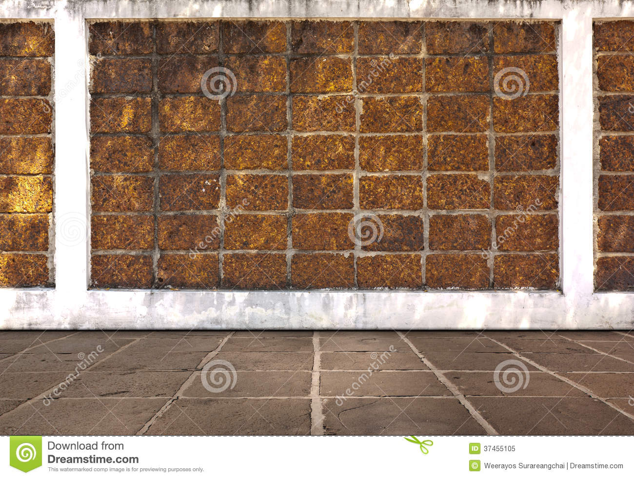 Laterite stone brick wall stock images image 35510874 - Laterite Brick Wall And Cement Flooring Royalty Free Stock Photo