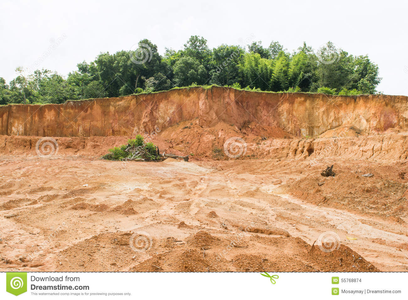 Laterite soil excavation site for sale stock photo image for Soil for sale
