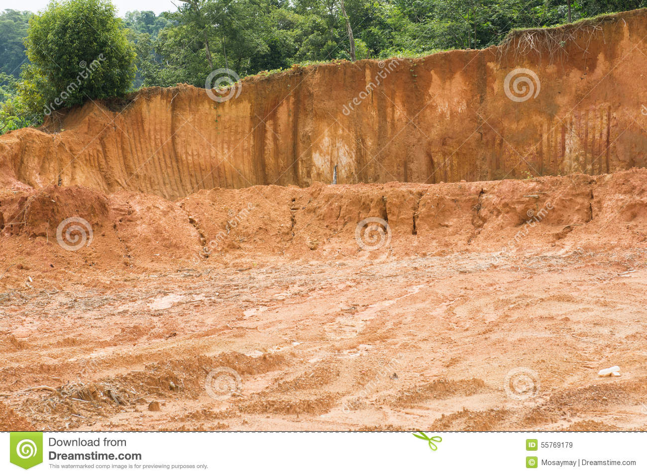Laterite soil excavation site for sale stock image image for Soil for sale