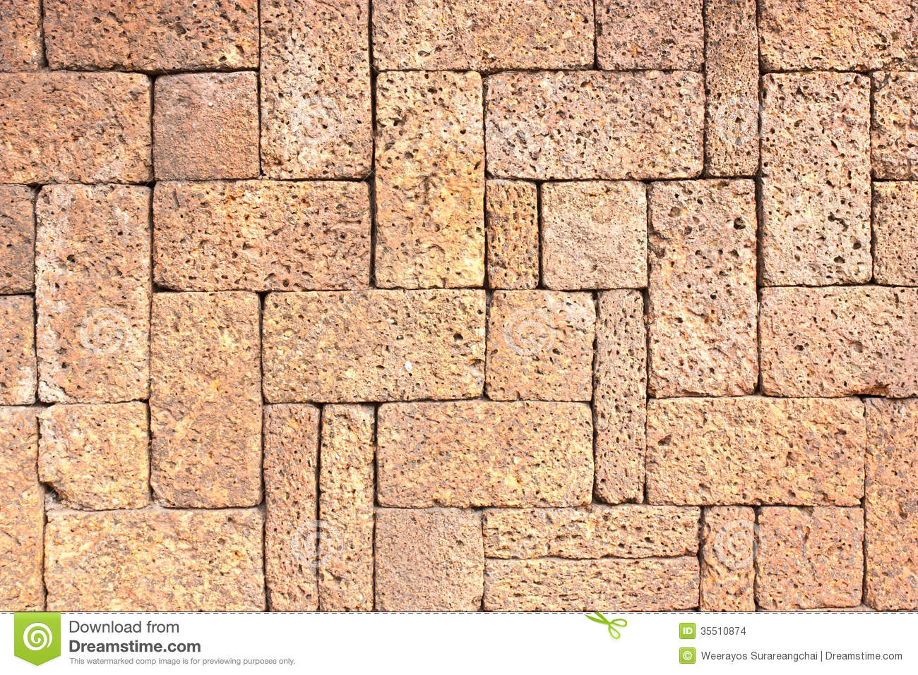 Laterite Stone Brick Wall Stock Images Image 35510874